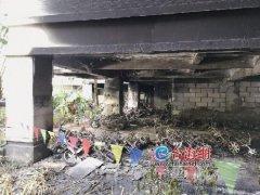 漳州市龙江明珠小区架空层起火