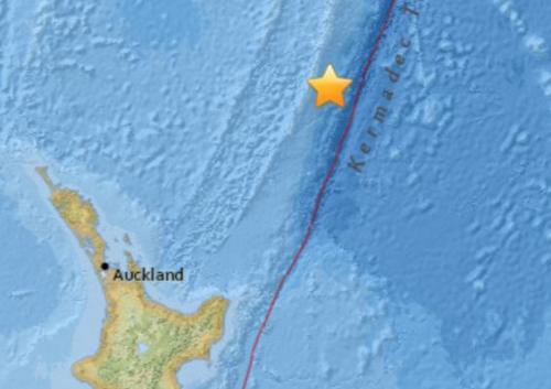 新西兰以北海域发生7.0级地震震源深度134.2公里