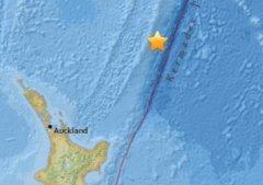 北京时间10日12时18分左右新西兰北岛以北海域发生