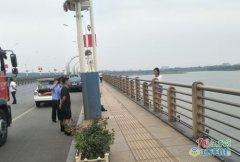 九江开发区八里湖大桥一女子欲跳