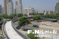 福州磐石人行天桥已完成主体建设