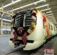 中国首列出口印度那格浦尔地铁车