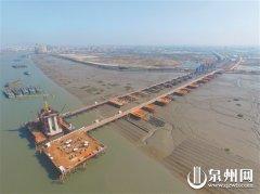 福厦客专安海湾特大桥建设进展顺