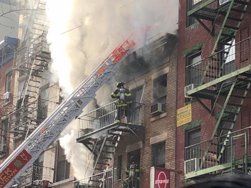 纽约华埠商住楼着火至少2人伤起火原因仍在调查