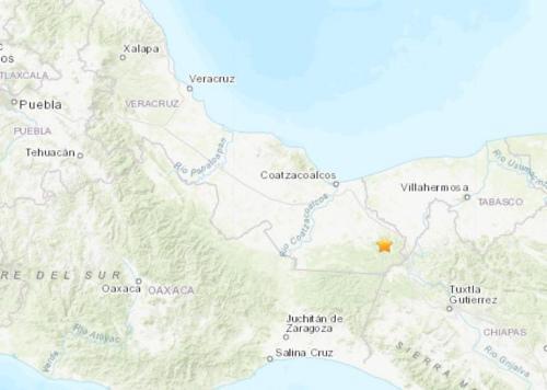 墨西哥南部地区发生5.4级地震震源深度179.9公里