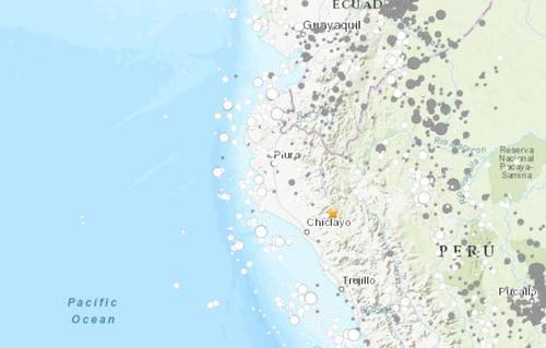 秘鲁发生里氏5.2级地震震源深度61.5千米