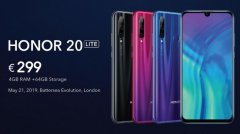 荣耀20 Lite发布:搭载麒麟710处理器 售价299欧元