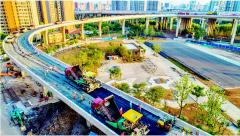 武汉二七长江大桥匝道摊铺沥青 预