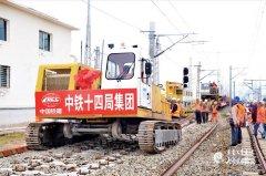 内蒙古包满铁路铺轨进入最后阶段