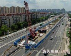 上海济阳路快速路进入主线高架施