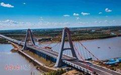 今日松原市天河大桥南北岸互通工