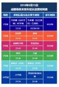 9月15日迎返程高峰 成都地铁各线路