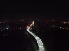 火炬路跨线桥今天正式通车 采用双