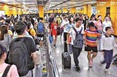国庆7天广州地铁总客运量6092.7万人