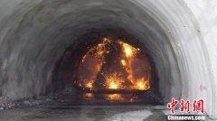 太焦高铁全线最长隧道贯通 长度达