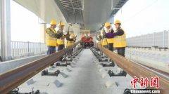 芜湖长江三桥开始铺轨 商合杭铁路